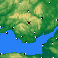 Nearby Forecast Locations - Merthyr Tydfil - Χάρτης