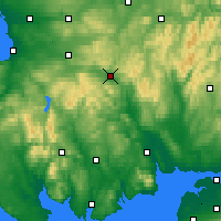 Nearby Forecast Locations - Sanquhar - Χάρτης