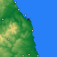 Nearby Forecast Locations - Bamburgh - Χάρτης