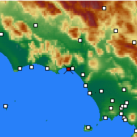 Nearby Forecast Locations - Φόρμια - Χάρτης