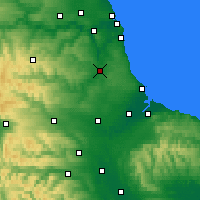 Nearby Forecast Locations - Durham - Χάρτης