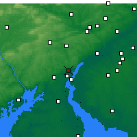 Nearby Forecast Locations - Elsmere - Χάρτης