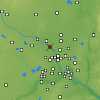 Nearby Forecast Locations - Anoka - Χάρτης