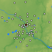 Nearby Forecast Locations - Fridley - Χάρτης