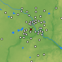 Nearby Forecast Locations - St. Louis Park - Χάρτης