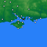 Nearby Forecast Locations - Gosport - Χάρτης