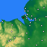 Nearby Forecast Locations - Greasby - Χάρτης
