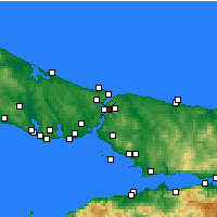Nearby Forecast Locations - Beykoz - Χάρτης