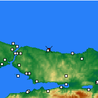 Nearby Forecast Locations - Χηλή - Χάρτης