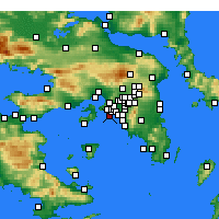 Nearby Forecast Locations - Πειραιάς - Χάρτης