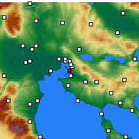 Nearby Forecast Locations - Καλαμαριά - Χάρτης