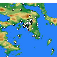 Nearby Forecast Locations - Γλυφάδα - Χάρτης