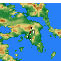 Nearby Forecast Locations - Αχαρναί - Χάρτης