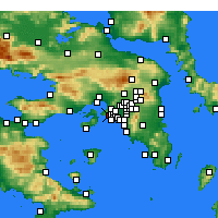 Nearby Forecast Locations - Κερατσίνι - Χάρτης