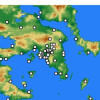 Nearby Forecast Locations - Χαλάνδρι - Χάρτης
