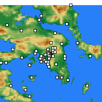 Nearby Forecast Locations - Μαρούσι - Χάρτης