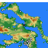 Nearby Forecast Locations - Χαλκίδα - Χάρτης