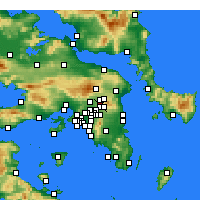 Nearby Forecast Locations - Κηφισιά - Χάρτης