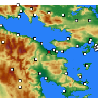 Nearby Forecast Locations - Λέχαιον - Χάρτης