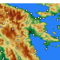 Nearby Forecast Locations - Άργος - Χάρτης