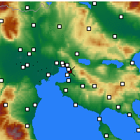 Nearby Forecast Locations - Πυλαία - Χάρτης