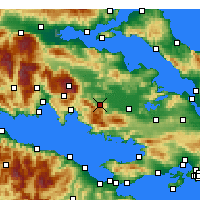 Nearby Forecast Locations - Λιβαδειά - Χάρτης