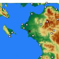 Nearby Forecast Locations - Αμαλιάδα - Χάρτης
