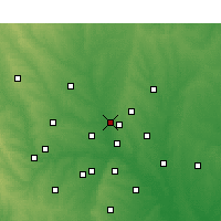 Nearby Forecast Locations - Carrollton - Χάρτης