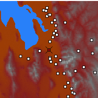 Nearby Forecast Locations - West Valley - Χάρτης