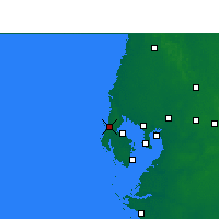Nearby Forecast Locations - Clearwater - Χάρτης