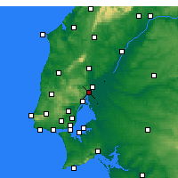 Nearby Forecast Locations - Vila Franca de Xira - Χάρτης