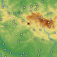 Nearby Forecast Locations - Jablonec nad Nisou - Χάρτης