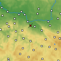 Nearby Forecast Locations - Kutná Hora - Χάρτης