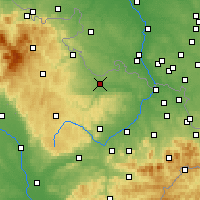 Nearby Forecast Locations - Opava - Χάρτης