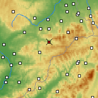 Nearby Forecast Locations - Rožnov pod Radhoštěm - Χάρτης
