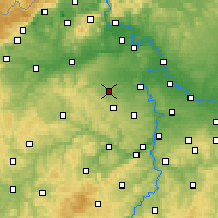 Nearby Forecast Locations - Slaný - Χάρτης