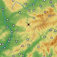 Nearby Forecast Locations - Vsetín - Χάρτης