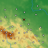 Nearby Forecast Locations - Jawor - Χάρτης