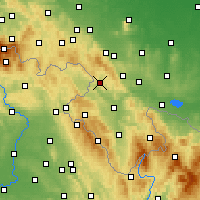 Nearby Forecast Locations - Nowa Ruda - Χάρτης