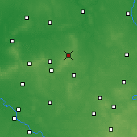 Nearby Forecast Locations - Ostrzeszów - Χάρτης