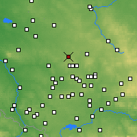 Nearby Forecast Locations - Tarnowskie Góry - Χάρτης