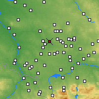 Nearby Forecast Locations - Zabrze - Χάρτης