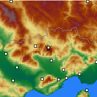 Nearby Forecast Locations - Φαλακρό - Χάρτης