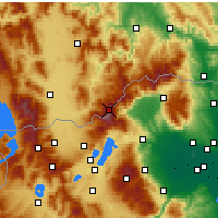 Nearby Forecast Locations - Βόρας - Χάρτης