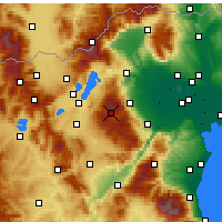 Nearby Forecast Locations - Βέρμιο - Σέλι - Χάρτης