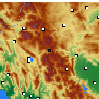 Nearby Forecast Locations - Μέτσοβο - Χάρτης