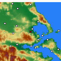 Nearby Forecast Locations - Αλμυρός - Χάρτης