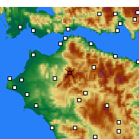 Nearby Forecast Locations - Αροάνια - Χάρτης