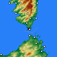 Nearby Forecast Locations - Bonifacio - Χάρτης