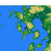Nearby Forecast Locations - Nagasaki Airport - Χάρτης